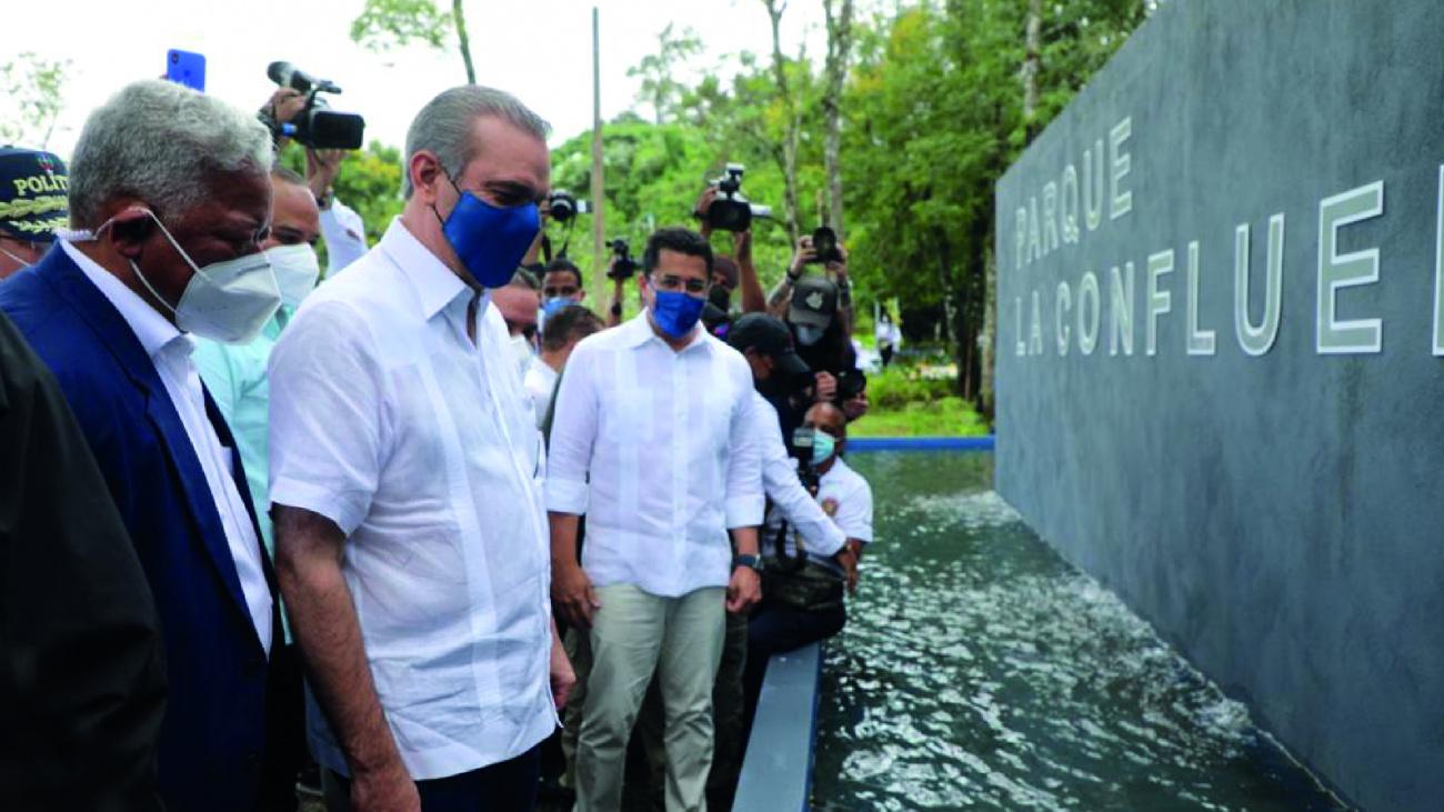 Presidente Abinader inaugura parque La Confluencia en Jarabacoa con una inversiónde 38 millones de pesos